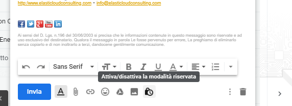 email riservate